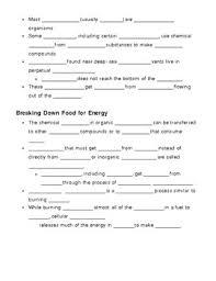 Photosynthesis And Cellular Respiration Worksheet And Cellular Respiration Notes Outline Lesson Plan