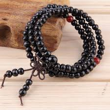 black prayer beads bracelet images 6mm natural sandalwood 108 beads wood prayer bead mala bracelet jpg