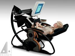 supine workstation using a relax the back zero gravity recliner