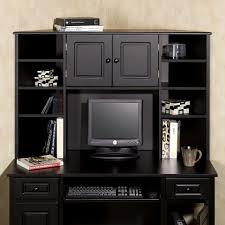 furniture rectangle dark brown wood computer desk with keyboard
