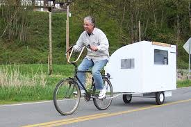 small light cer trailers a real bike trailer house test run bicycles and cargo pinterest