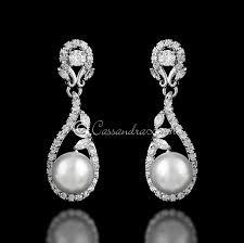 drop bridal earrings wedding day earrings bridal earrings cz earrings lynne