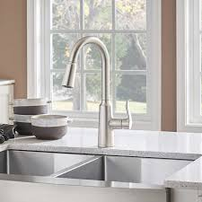 moen benton kitchen faucet reviews moen edwyn single handle pull kitchen faucet