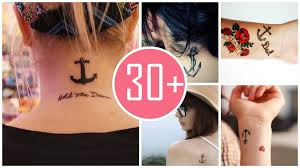 here are ideas of girly anchor tattoos with quotes from sasamila