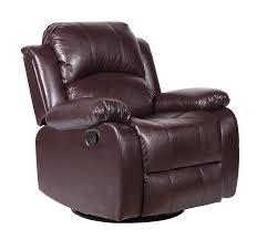 Swivel Rocker Chairs For Living Room Bonded Leather Rocker And Swivel Recliner Living Room