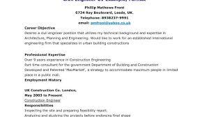 Site Civil Engineer Resume Civil Engineering Experience Resume