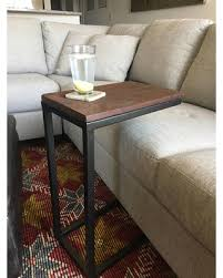 great deals on industrial reclaimed wood c table side table couch