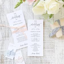 rustic wedding program template rustic calligraphy program template