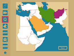 middle east map interactive iworld geography middle east region mapping skills teachers