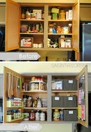 Kitchen Pantry Ideas For Small Spaces Kitchen Organization Ideas For The Inside Of The Cabinet Doors
