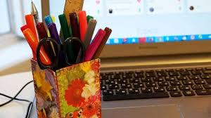 Pencil Holder For Desk How To Make A Pretty Pencil Holder Diy Home Tutorial
