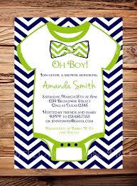 onesie baby shower invitation boy oh baby bow tie baby boy shower
