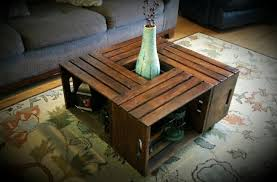 Creative Ideas For Outdoor Coffee Table Wine Crate Coffee Table Original And Creative Ideas