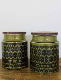 kitchen storage of tea and coffee jars set vintage shabby chic