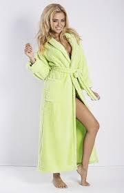 robe de chambre eponge femme peignoir éponge vert elisa dk eliz v idresstocode boutique