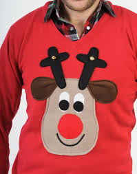 rudolph sweater rudolph reindeer sweater with squeaker his