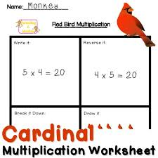 fun multiplication worksheets red bird multiplication