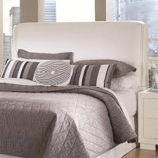 jessica padded headboard bedroom set in white finish by coaster