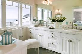 bathroom create a cool beach atmosphere with coastal cottage
