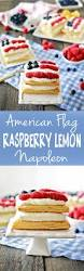 American Flag Pie Recipe American Flag Dessert Raspberry Lemon Napoleon Tangled With Taste