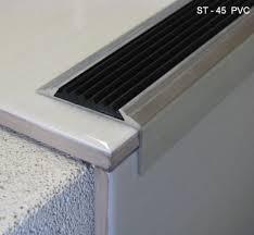 aluminium stair nosing with vinyl insert stair nose