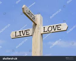 live laugh love signs signpost words live laugh love over stock illustration 261696734