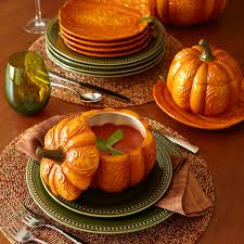 halloween serving bowls my pumpkin soup bowls from pier one tablescapes fall