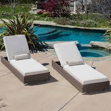 Outdoor Sun Lounge Chairs Zero Gravity Reclining Outdoor Lounge Chair 2 Pack