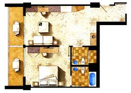 in suite plans one bedroom suites grand hotel miami florida