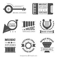 imagenes logos musicales bonito pack de logos vintage de estudios de música descargar