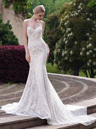 spaghetti wedding dress spaghetti lace mermaid court wedding dress tbdress