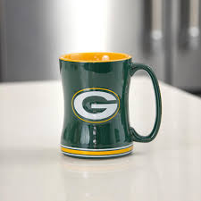 Green Bay Packers Home Decor 24 Oz Nfl Green Bay Packers Relief Sculpted Mug Set Of 2 225885