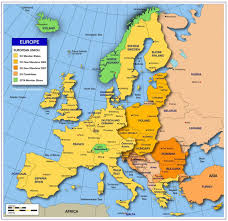 map of europe map europe on europe map