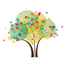 butterfly tree stock vector illustration of magical 30262868