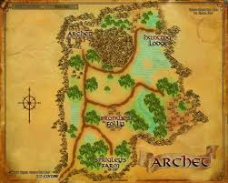 map of the lord of the rings archet the one wiki to rule them all fandom powered by wikia