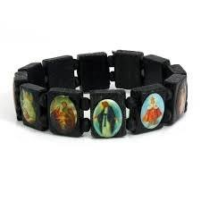 saints bracelet catholic saints bracelet black wood usa