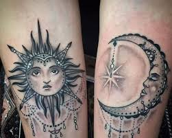 sun and moon designs get inked with something
