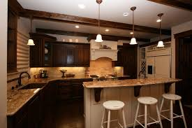 Kitchen Cabinets And Countertops Kitchen Backsplashes Dark Brown Kitchen Cabinet Greyish Smooth