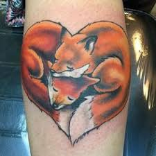 done in thestudiodesignyourself sleeping fox tattoo