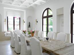 white slipcover dining chair dining room white theme wall and slipcover dining chairs also