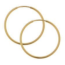 hoop earring endless hoop earring component with hinged wire 24mm diameter and