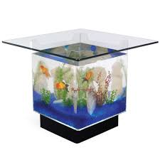 Aquarium Coffee Table The Aquarium Coffee Table Hammacher Schlemmer