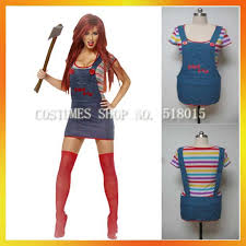 Halloween Costumes Chucky Female Halloween Onepiece Chucky Costume Christmas Party