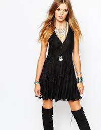 image 1 of free people reign over me sleeveless dress with mesh
