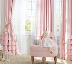 Ruffled Pink Curtains Lillie Coe S Curtains For The Nursery Linen Blend Ruffle