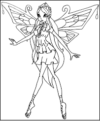 winx club enchantix bloom coloring pages for kids gtv printable