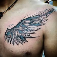 the meaning of wing tattoos on chest macytee com