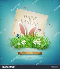 vector vintage realistic background easter template stock vector