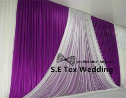 wedding backdrop prices cheap price 3m 6m silk wedding backdrop curtain with white