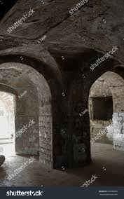 old abandoned tunnel underground wine cellar stock photo 724780666